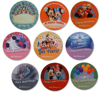 Disney Celebration Buttons, A Fun Freebie! ~ Walt Disney World Hints. I'll have to get one to celebrate my college graduation this summer! :)