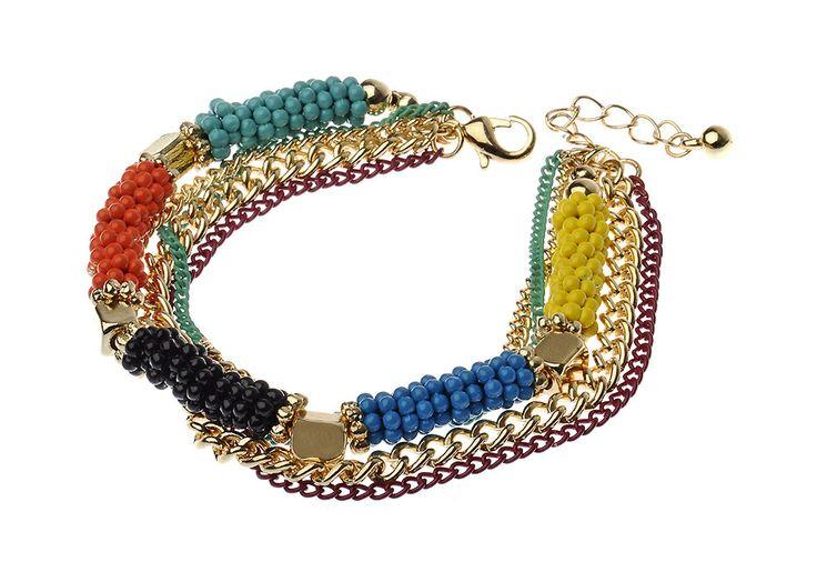 AlibiOnline - CBM828 - Bracelet With Multi Rows by MAJIQUE, $27.00 (http://www.alibionline.com.au/cbm828-bracelet-with-multi-rows-by-majique/)