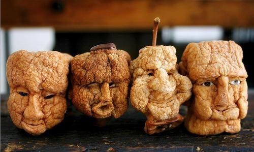 dried apple faces (easy DIY shrunken heads for halloween)
