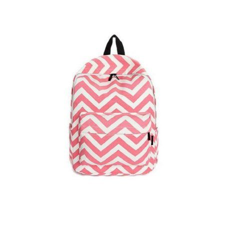 Chevron Backpack with School Supplies in Pouch - Pink