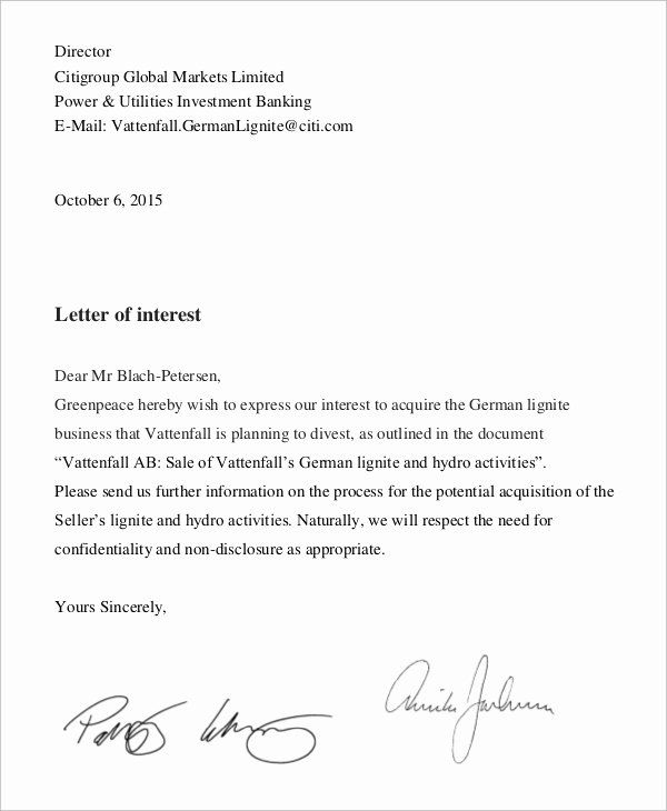 40 Letter Of Interest Templates In 2020 Letter Of Interest