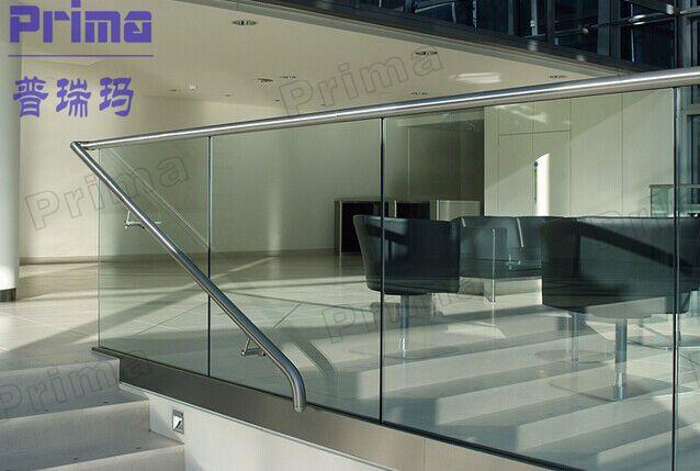nuevo diseo de acero inoxidable barandilla de escalera de barandilla de vidrio templado ps