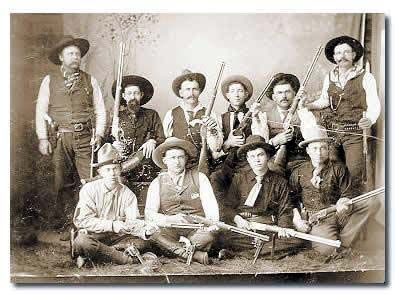 The 10 orginal TEXAS RANGERS Frontier Battalion Co. B about 1880