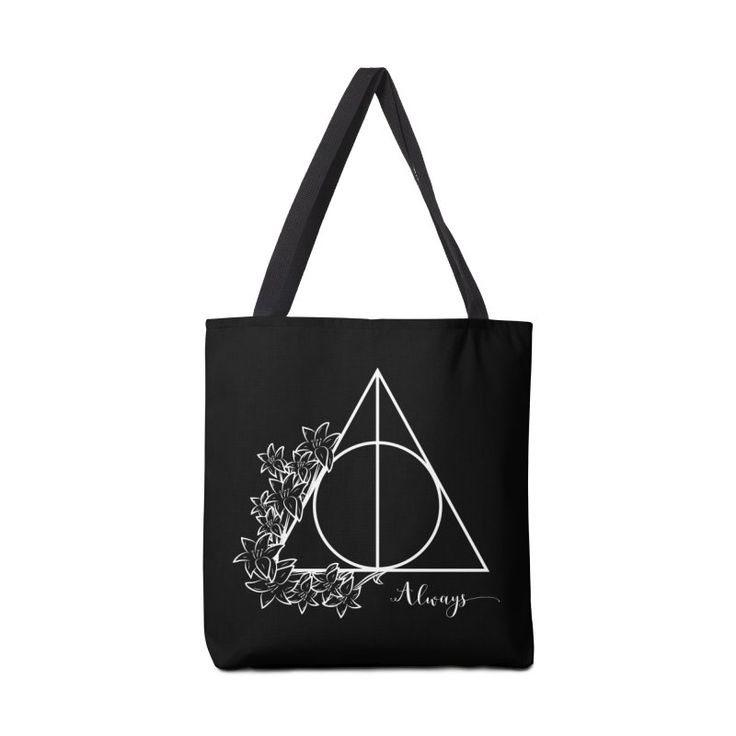 Always (white over black/dark) Accessories Bag by The Doodling Studio #harrypotter #always #deathlyhallows #lillypotter #severussnape #totebag #fangilr #fashion
