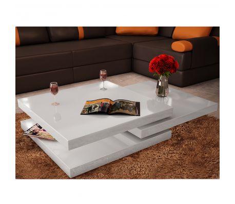 Sofabord i 3 lag Højglans hvid