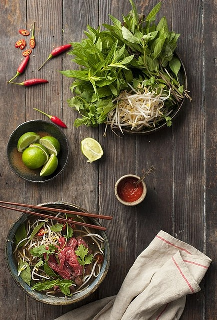 Vietnamese Pho. Love the clean flavours and health you feel eating good vietnamese food.