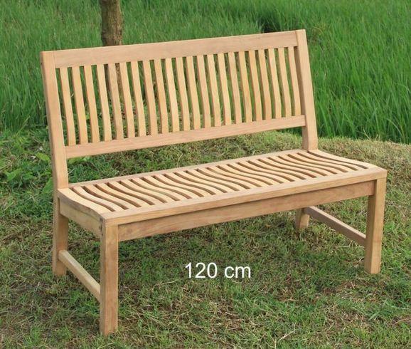 Stabile Gartenbank Kingsbury In Premium Teak Ohne Armlehne 120 Cm Teakholz Gartenbank Gartenbank Teak Gartenmobel