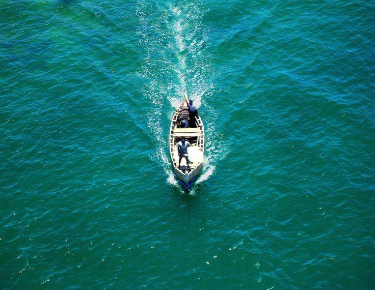 #a boat #pamban bridge #rameswaram #sea