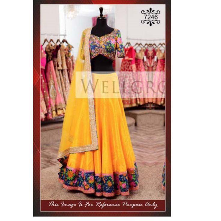 New Bridal Yellow lehenga Choli With Heavy Embroidered Work