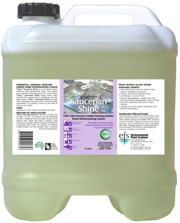 Saucepan Shine Hand Dishwashing Liquid 20L