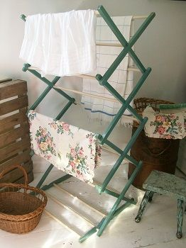 Vintage washing airer. New at Lavender House Vintage #vintage#painted#laundry#kitchen#bathroom#home#interiors SOLD