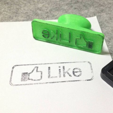 """3D """"Like"""" stamp, Eunny Download on https://cults3d.com #3Dprinting"""