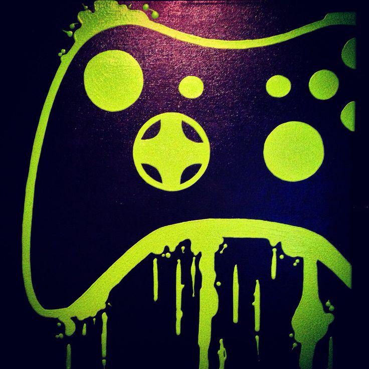 Arte de regulador video del juego por ControlFreakGameArt en Etsy
