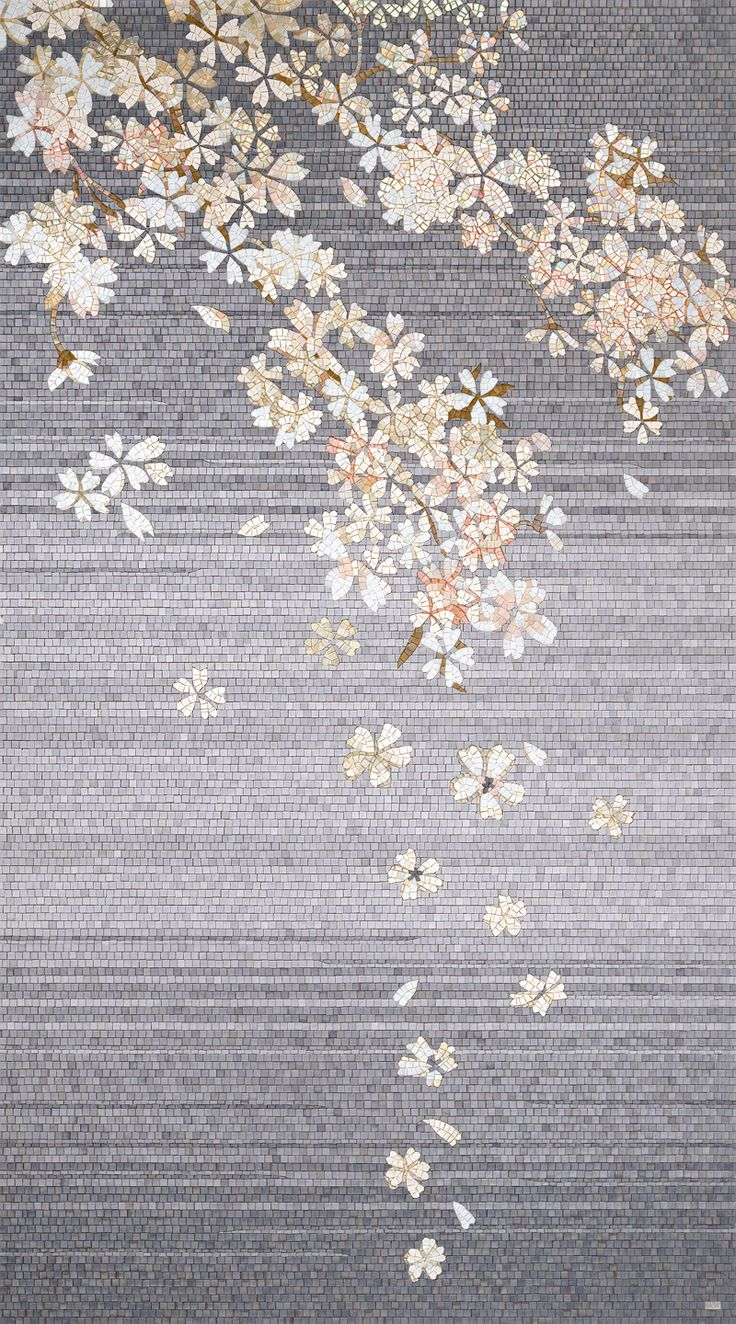 This floral mosaic is part of the Orientale collection by Sicis. (sicis.com)