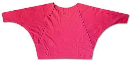 Shirt mit Fledermausärmeln nähen
