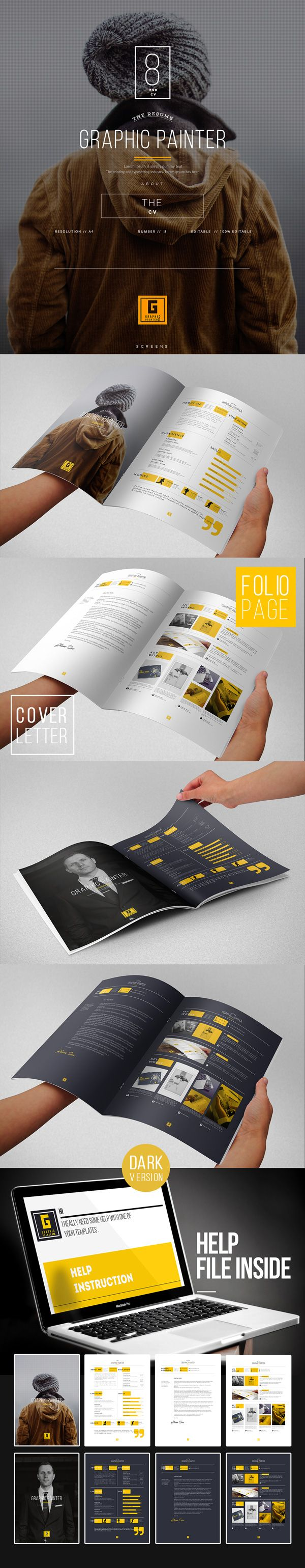 Creative Resume Template GraphicBurger 83 best