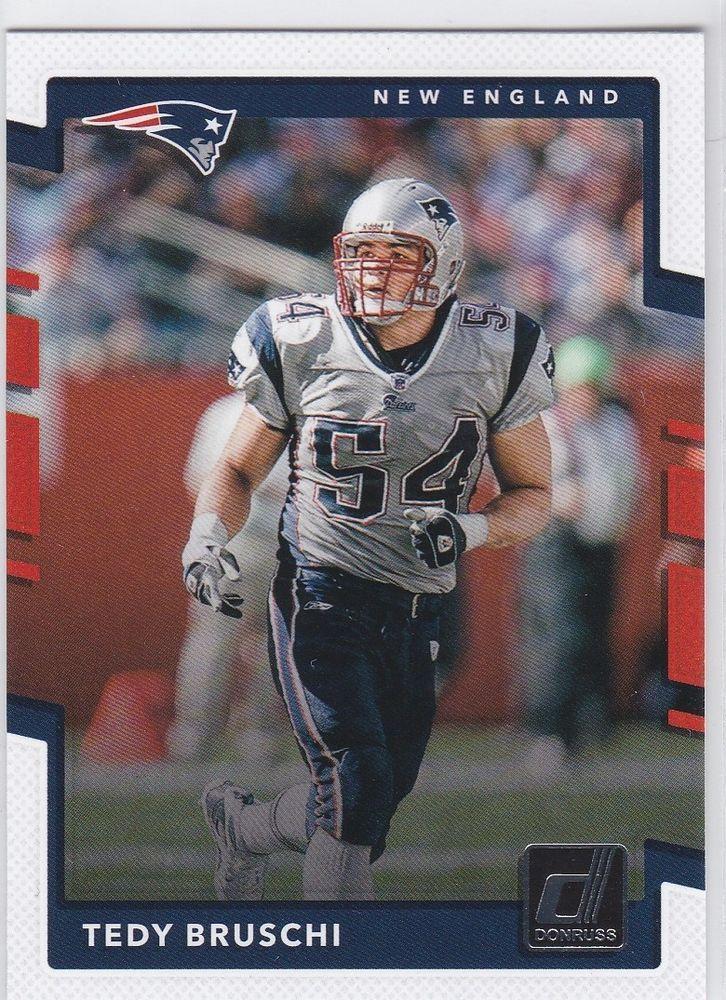 2017 Donruss Tedy Bruschi New England Patriots Football Sports Card No 17 #NewEnglandPatriots