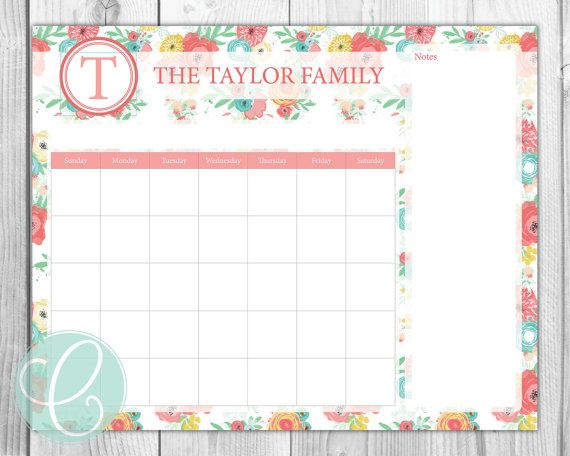 Best X Printable Calendars Images On   Dry Erase