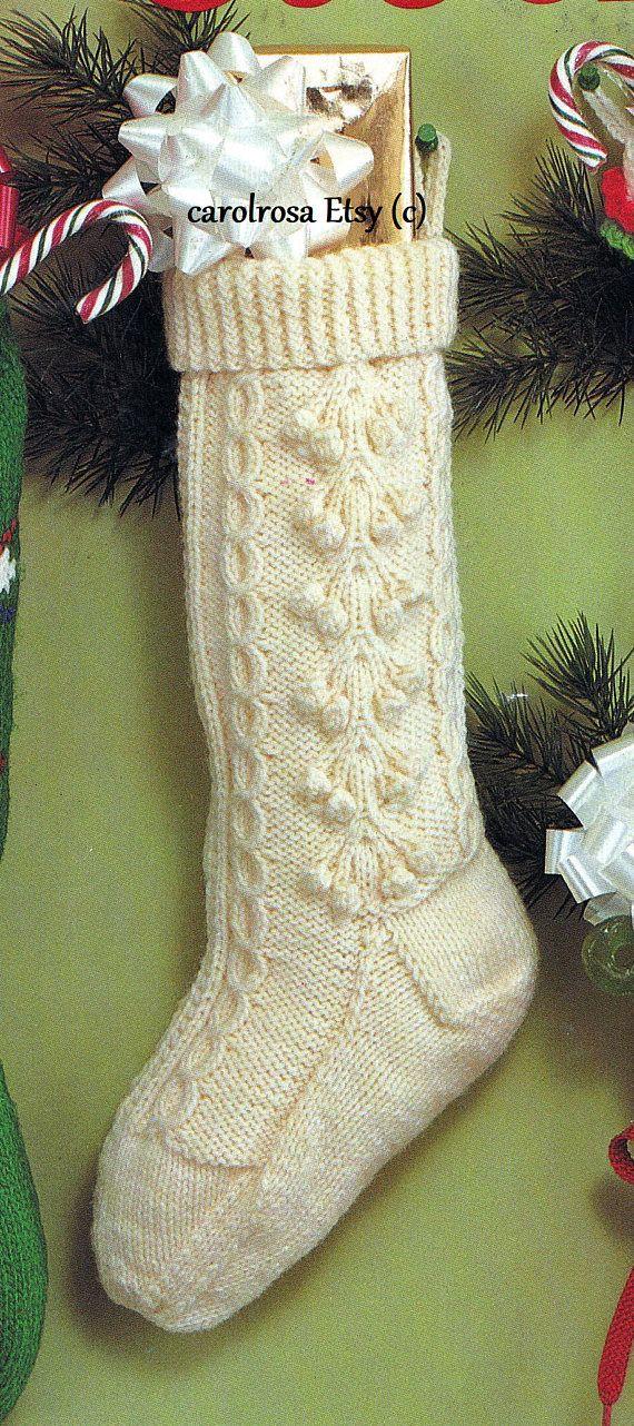 fisherman knit christmas xmas stocking pattern pdf download toys santa fun festive