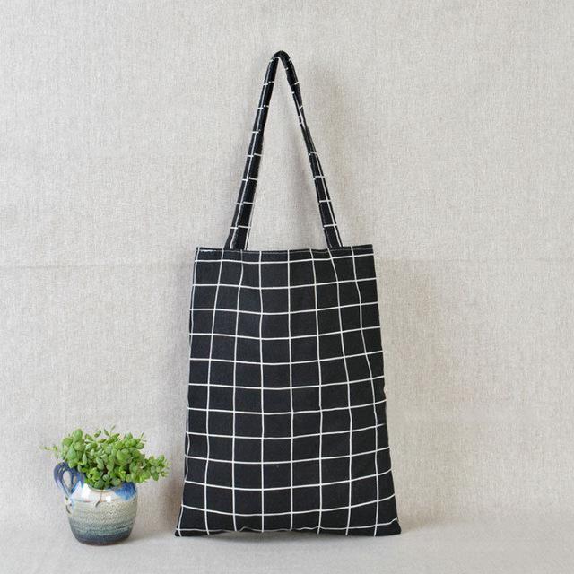 Fashion Eco Shopping Cotton Linen Tote Handbag Canvas Bag Purse Pouch For Women