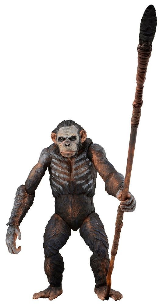 Figura El amanecer del planeta de los simios. Koba, 17cm NECA Figura articulada de 17cm, creada por NECA, del personaje de Koba, uno de los simios protagonistas de la película El amanecer del planeta de los simios.
