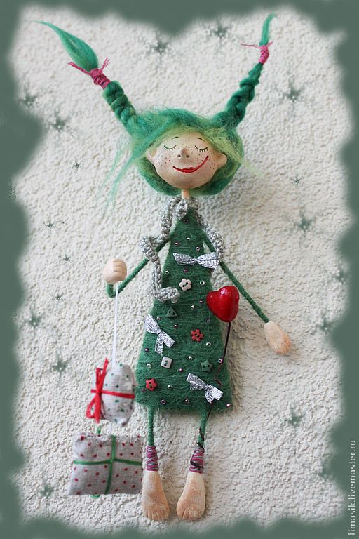 Купить Елочка (подвеска-магнитик) - Новый Год, новогодний подарок, новогодний сувенир, новогоднее украшение