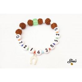Identification bracelet for toddlers #rudraksha