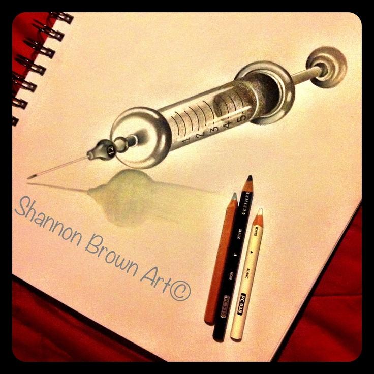Vintage syringe | Sketch Jawn | Pinterest | Piercings and