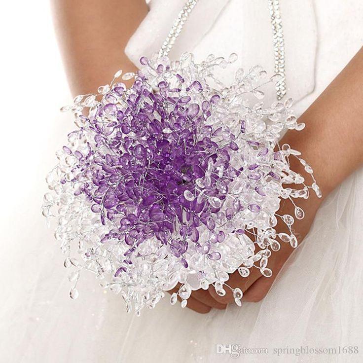 Hochzeit Brautstrauß Christmas Party Dekoration Künstliche Blumen Gaze Hand Blume Violet Acrylkorn Festival Floral Ornament Von