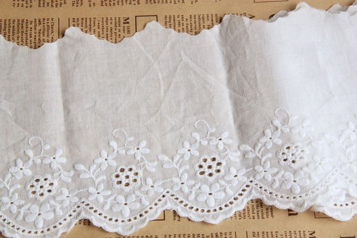 CL005 Free Shipping 15 yds/lot 13CM(5.11'')  Handmade DIY White 100% Cotton Cloth Lace Flower Cutout Embroidery Lace Trim $29.00