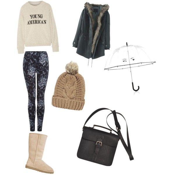 A fashion look from December 2015 by ipekimir featuring The Elder Statesman, Wrap, Dex, UGG Australia, Kate Spade ve Chicnova Fashion