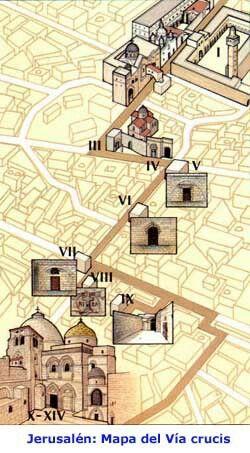 Mapa del Vía Crucis