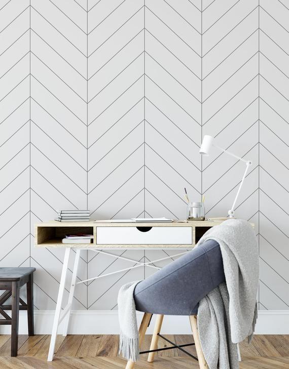 Herringbone Wallpaper Peel And Stick Tiles Modern Wallpaper Etsy Herringbone Wallpaper Boys Room Wallpaper Modern Wallpaper