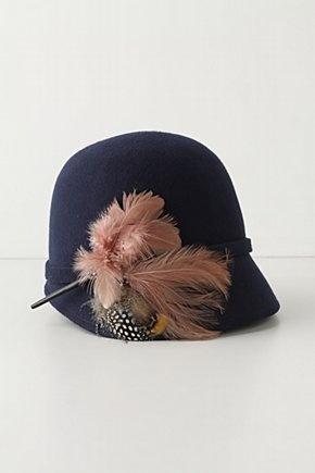 plumed wool hat