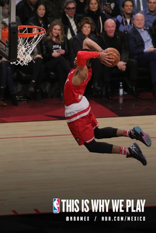 Clavada de Russell Westbrook #0 de la Conferencia Oeste en el NBA All-Star Game. #Dunk #MVP #Clavada #Fly #Jump #AllStarGame #TeamWest