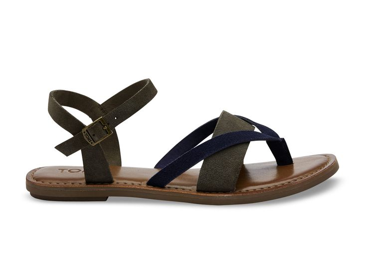undefined Tarmac Navy Colorblock Suede Women's Lexie Sandals