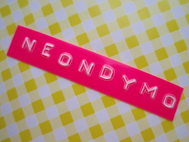 Neon Pink Dymo Embossing! #dymo #label #neon