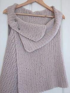 Free Easy Crochet Vest Pattern   simple knitted vest #pattern