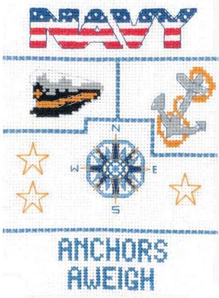 Navy Sampler - Mini Cross Stitch Kit