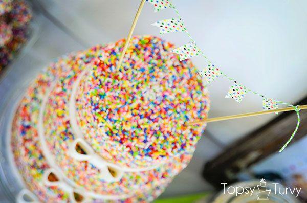 Im Topsy Turvy: Baby Boy's Cake Batter & Sprinkles Birthday Cake