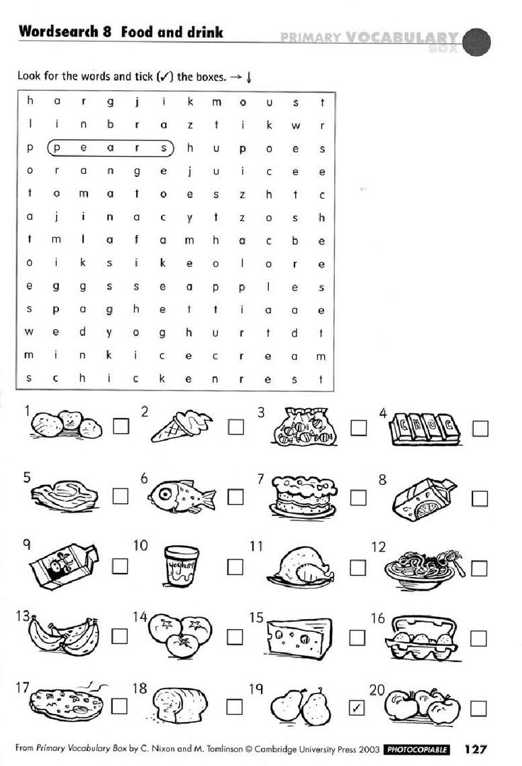 Worksheets Food Word Search For Grade 2 244 best english crosswords images on pinterest crossword this simple wordsearch which gives the ell visual prompts and then asks them to find