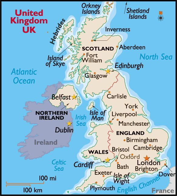 MAP OF THE UNITED KINGDOM | Map of United Kingdom of Great Britain and Northern Ireland