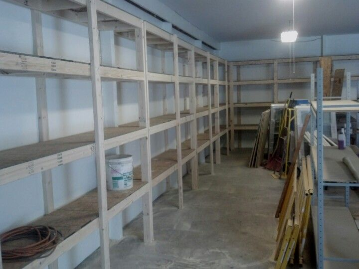Looking to increase storage space? These shelves are a great addition to a garage or unfinished basement!