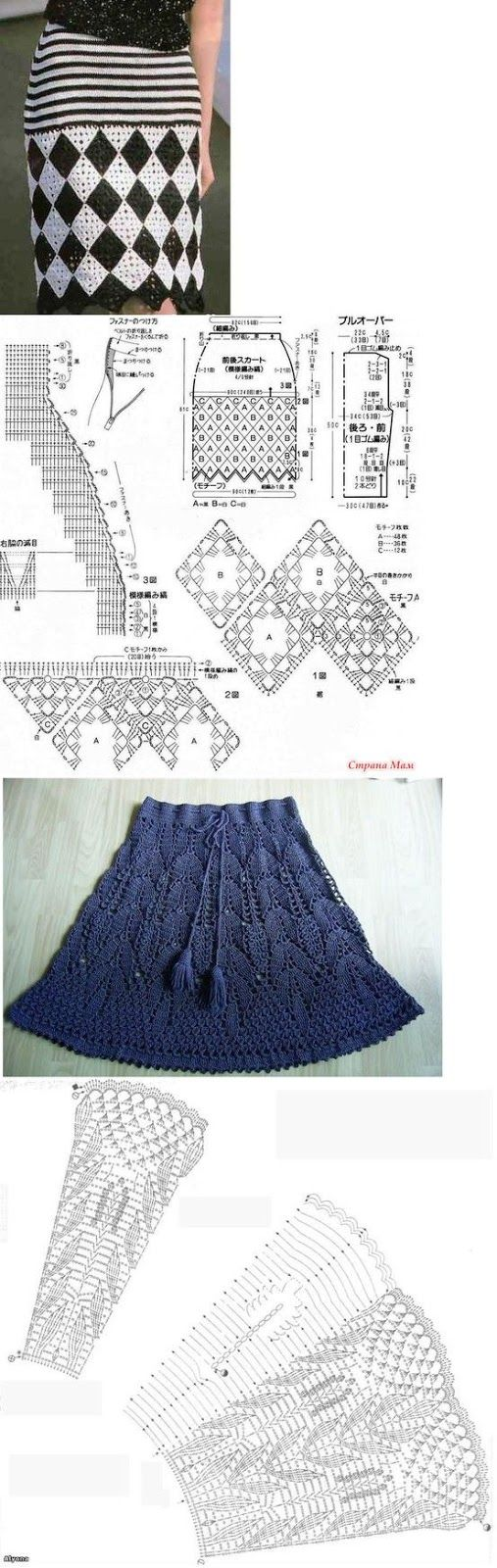 Luty Artes Crochet: Saias em crochê + Gráficos. …