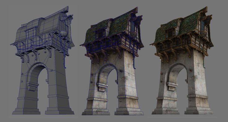ArtStation - Guild Wars 2 Lion's Arch Buildings, Nate Baerwald