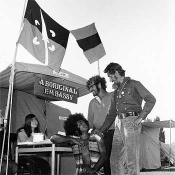 First Aboriginal Flag _ Aboriginal Embassy, (Old Parliament House)