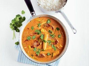 Curry cu porc și arahide în stil thailandez - Good Food Romania