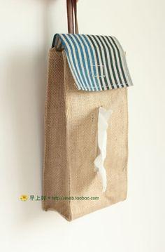 [inspiration] hanging tissue box holder.