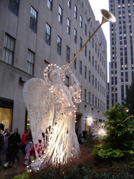 Angel navideño en el Rockefeller Center - New York - EEUU