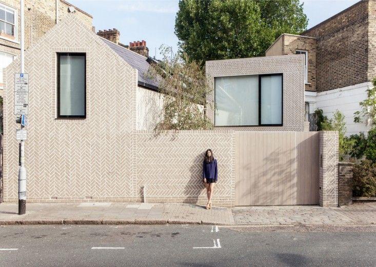 Herringbone Brick London home